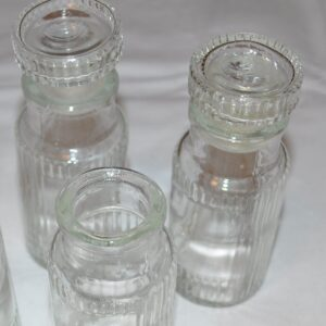 Vintage apothecary bottles lot of 3