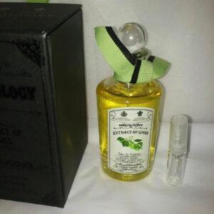 Penhaligon's extract of limes eau de toilette sample vial 3 ml bottle
