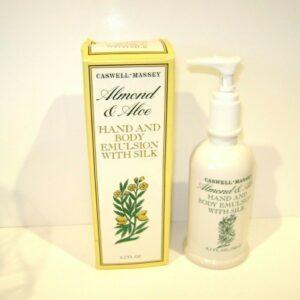 Caswell Massey almond & aloe hand and body emulsion with silk 8.2 oz